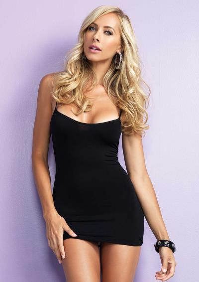 STRAPPY BACK SEAMLESS MINI DRESS OS