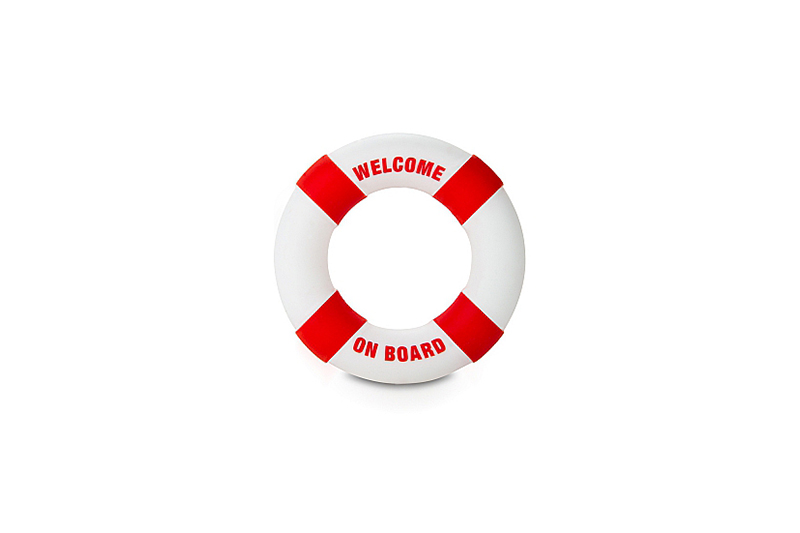 Anello Fallico Buoy Welcome on Board Diam 3cm Rosso