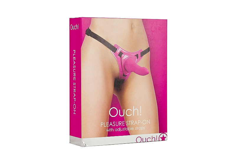 Strap On Ouch Pleasure 14cm Rosa