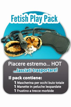 Fetish Play Pack Frusta Manette Mascherina