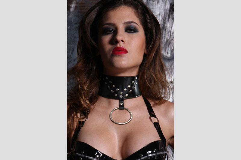 BDSM Collare in pelle Neck Nero